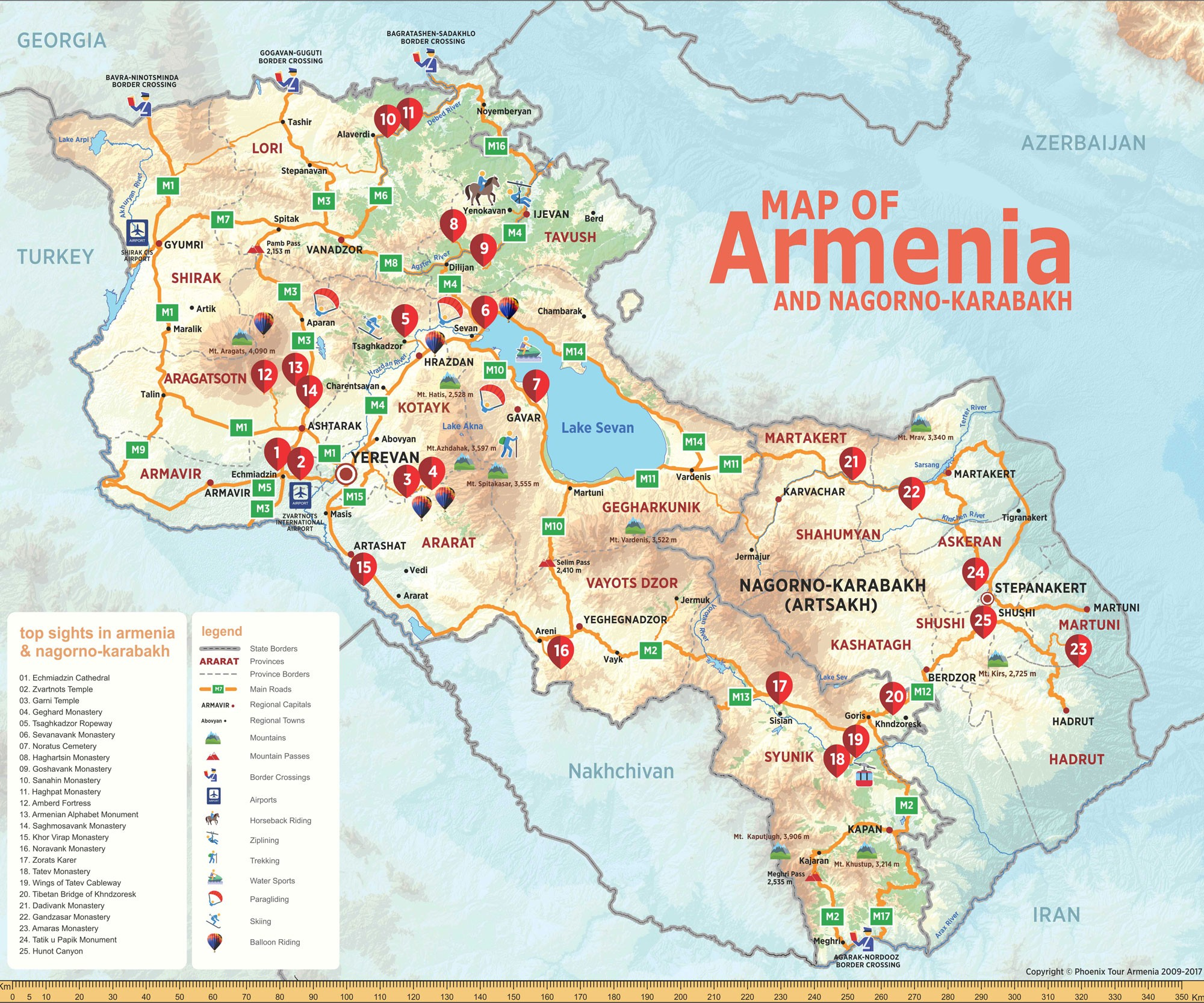 armenia tourist map image collections